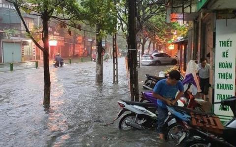 Mưa lớn diện rộng tại Thái Bình