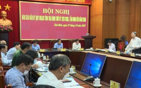 Báo cáo đầu kỳ quy hoạch tỉnh Thái Bình thời kỳ 2021-2030, tầm nhìn đến năm 2050