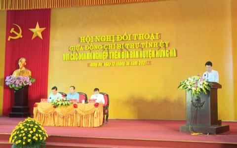 Đối thoại giữa đồng chí Bí thư Tỉnh ủy với các doanh nghiệp trên địa bàn huyện Hưng Hà