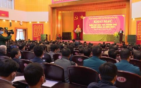 Khai mạc diễn tập khu vực phòng thủ huyện Hưng Hà