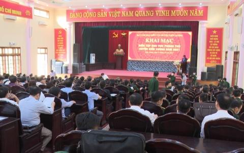 Khai mạc diễn tập khu vực phòng thủ huyện Kiến Xương