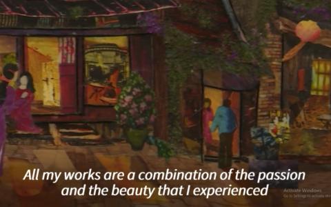 Nữ nghệ sĩ Việt tâm huyết với dòng tranh vải