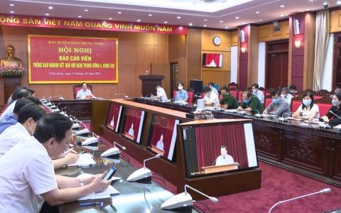 Thông báo kết quả hội nghị Trung ương 4, khóa XIII