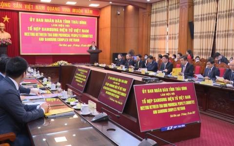 Tỉnh Thái Bình làm việc với tổ hợp Samsung Việt Nam