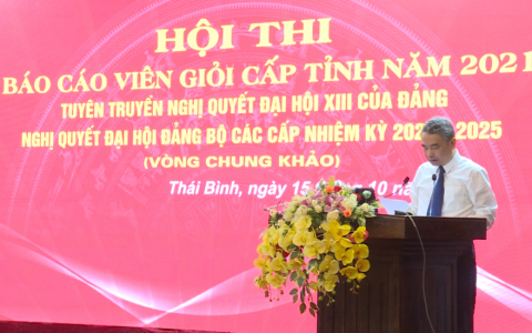 Vòng chung khảo Hội thi báo cáo viên giỏi tỉnh Thái Bình năm 2021
