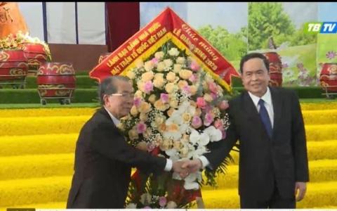 Chủ tịch Ủy ban MTTQ Việt Nam chúc mừng Lễ Giáng sinh tại Thái Bình