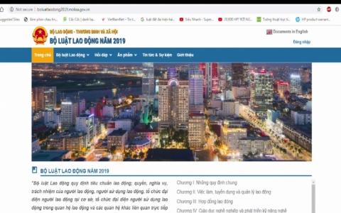 Trang tin điện tử hướng dẫn thực thi Bộ luật Lao động