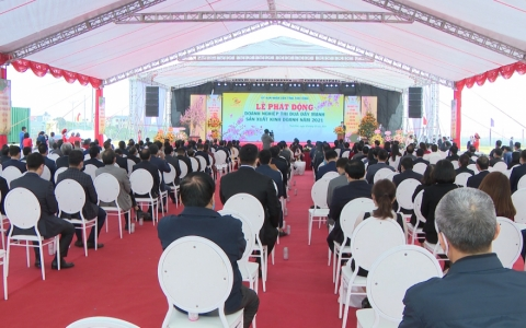 Doanh nghiệp Thái Bình ra quân thi đua sản xuất kinh doanh năm 2021