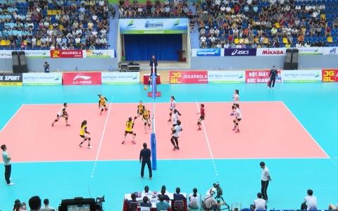 Bóng chuyền nữ Thái Bình thắng áp đảo 3-0 trước đội nữ Đắc Lắk
