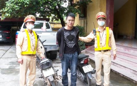 Cảnh sát giao thông tỉnh Thái Bình bắt giữ một đối tượng trộm cắp xe máy