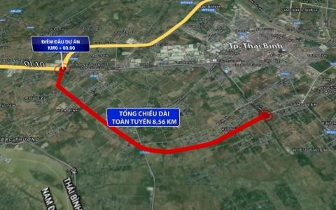 Đầu tư đường vành đai phía Nam thành phố Thái Bình