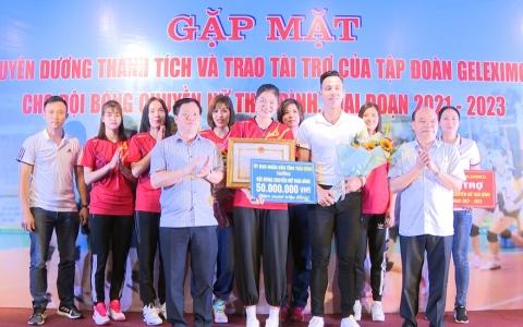 Gặp mặt tuyên dương thành tích và trao tài trợ của tập đoàn Geleximco cho Đội bóng chuyền nữ Thái Bình giai đoạn 2021- 2023