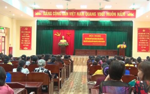 Hội Liên hiệp phụ nữ Thành phố tổ chức hội nghị học Nghị quyết Đại hội Đảng các cấp và Luật bầu cử Đại biểu Quốc Hội và HDND các cấp