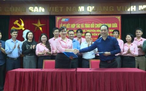Hợp tác trao đổi chương trình giữa Đài PT-TH Thái Bình và Đài PT-TH Lào Cai