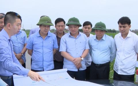 Kiểm tra thực địa các tuyến đường trực trong Khu kinh tế Thái Bình và đường từ thành phố đi Cồn Vành