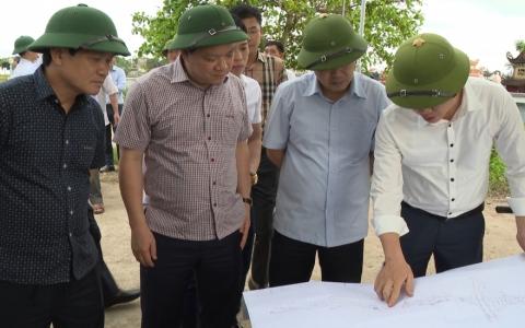 Kiểm tra tiến độ giải phóng mặt bằng đường từ Thành phố Thái Bình đi cầu Nghìn