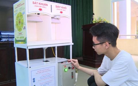 Máy khử khuẩn đa năng phục vụ phòng chống dịch covid19 đoạt giải nhì cuộc thi Sáng tạo khoa học kĩ thuật Toàn quốc
