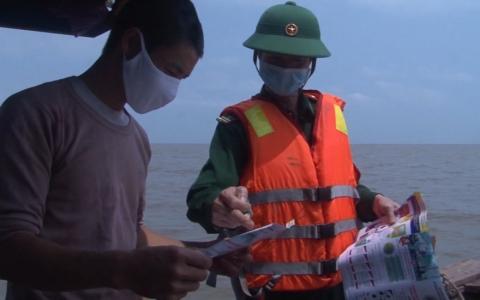 Bộ đội Biên phòng Thái Bình phòng chống dịch trên các tuyến biên giới vùng biển