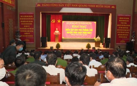 Khai mạc diễn tập khu vực phòng thủ huyện Thái Thụy