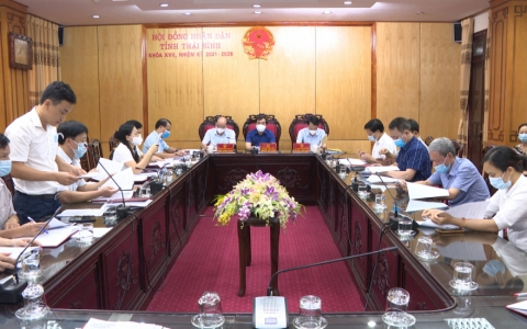 Thường trực HĐND tỉnh Thái Bình thẩm tra một số tờ trình của UBND tỉnh