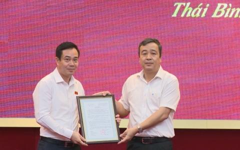Công bố Quyết định phân công Phó trưởng đoàn đại biểu Quốc hội chuyên trách khóa XV tỉnh Thái Bình