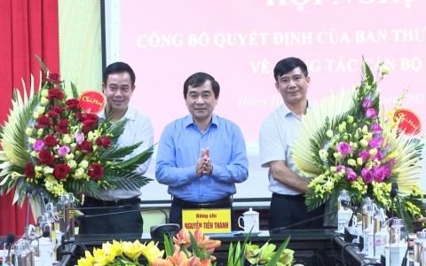 Công bố quyết định về công tác cán bộ tại huyện Hưng Hà