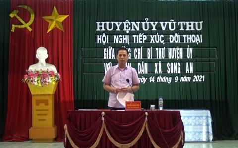 Bí thư Huyện ủy Vũ Thư đối thoại trực tiếp với nhân dân