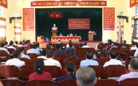 Đoàn đại biểu Quốc hội khóa XV tỉnh Thái Bình tiếp xúc cử tri