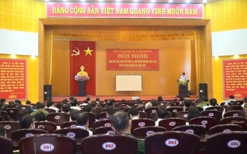 Hội nghị Ban chỉ đạo Ban tổ chức và tập huấn khung diễn tập khu vực phòng thủ huyện Hưng Hà năm 2021