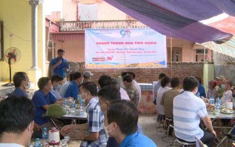 Khánh thành nhà tình nghĩa cho học sinh nghèo