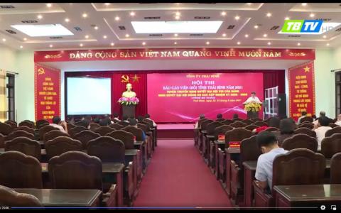 Ngày thứ 2 vòng sơ khảo hội thi Báo cáo viên giỏi tỉnh Thái Bình năm 2021