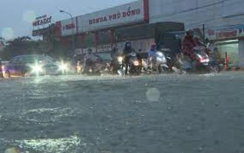 Thái Bình: cảnh báo ngập lụt do mưa lớn