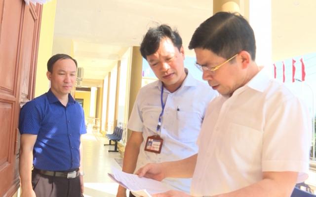 Kiểm tra công tác chuẩn bị cho bầu cử tại huyện Tiền Hải