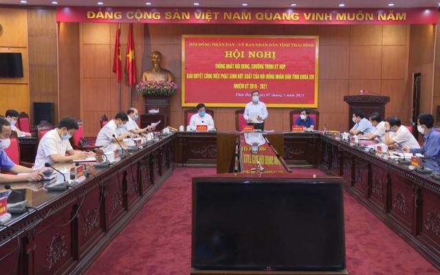 Thống nhất nội dung chương trình kỳ họp giải quyết công việc phát sinh đột xuất của HĐND tỉnh